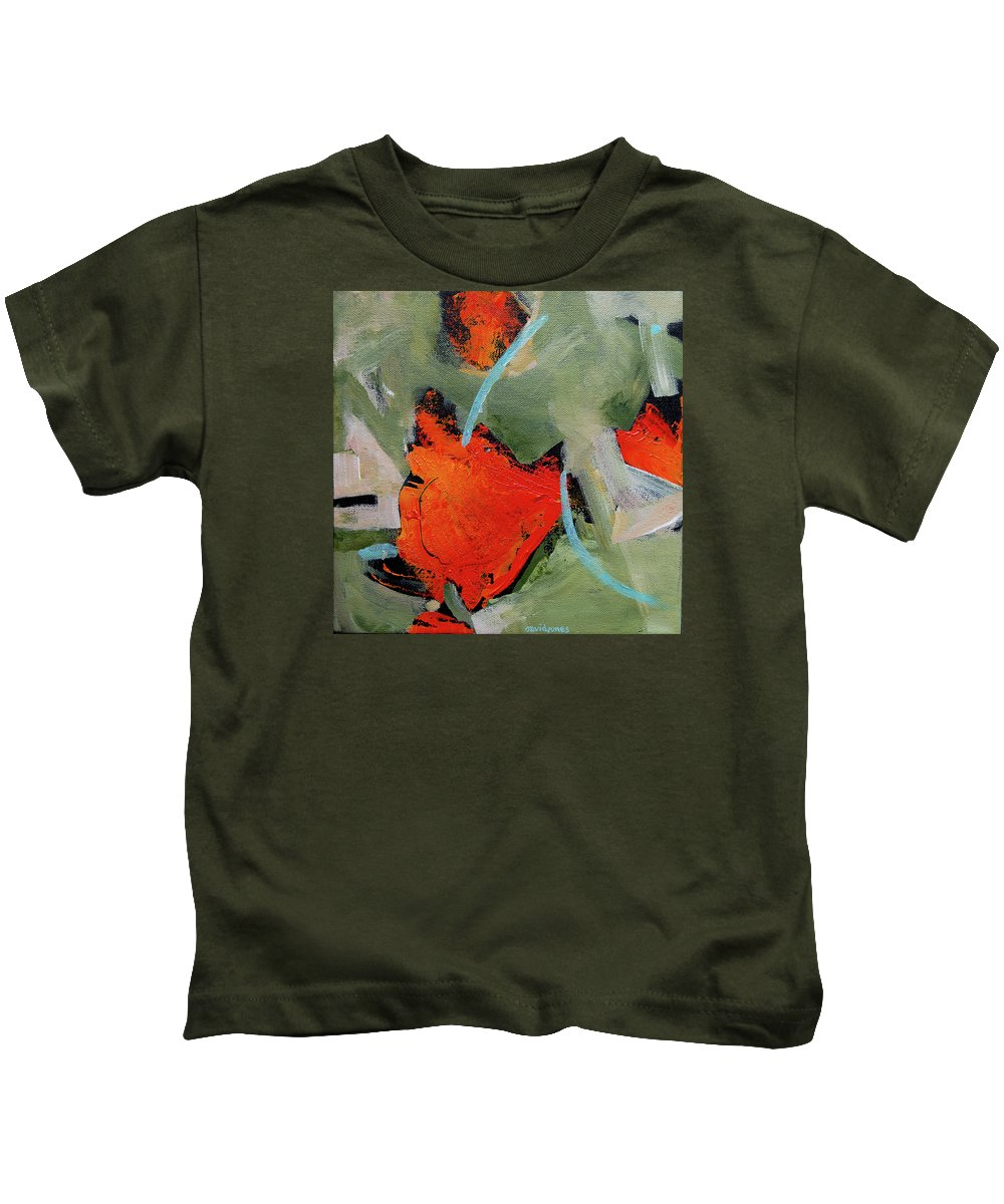 Warm Kids T-Shirt featuring the painting Sunset At Shaggy's by Dave Jones