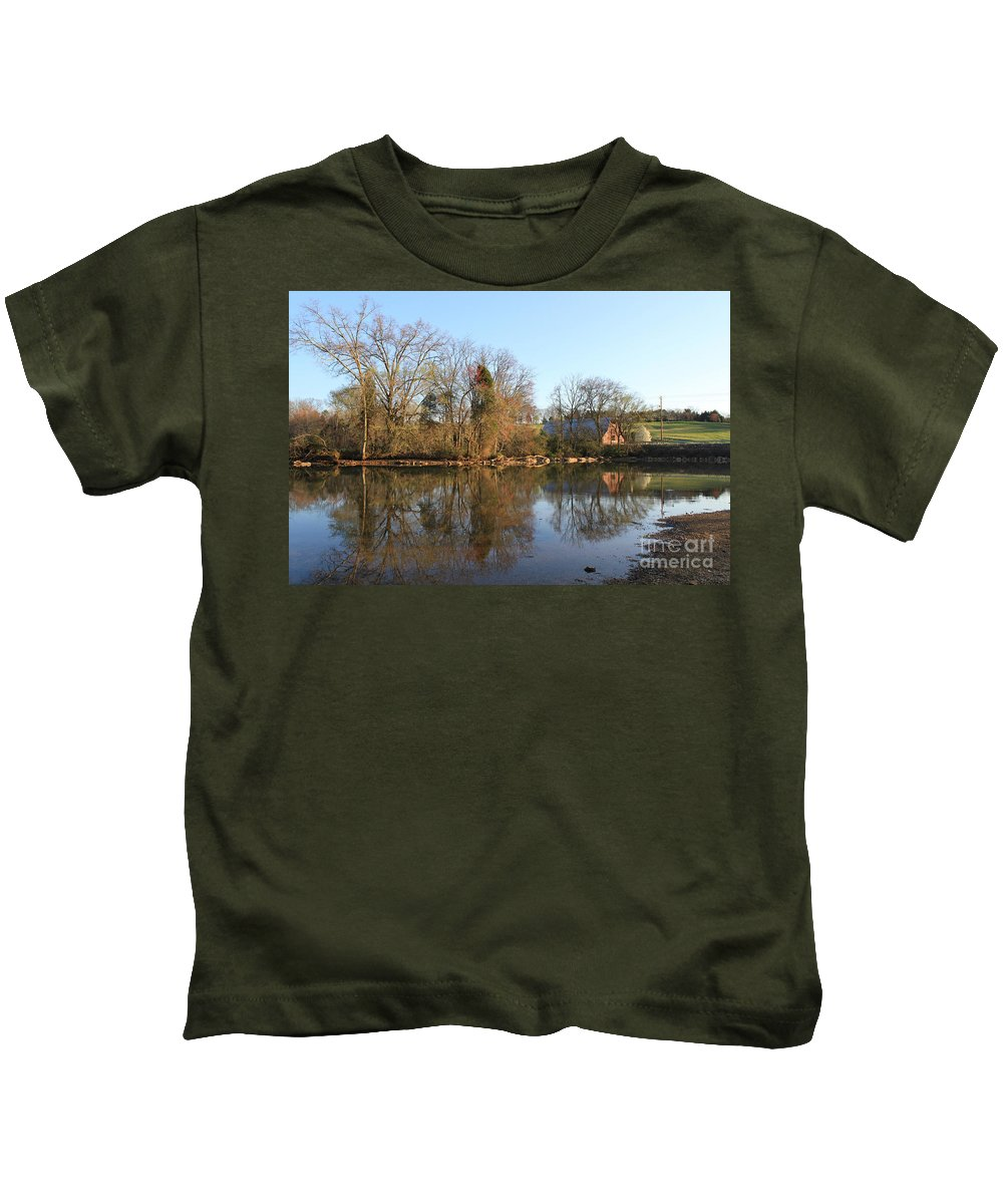 Landscape Kids T-Shirt featuring the photograph Sunset At The Lake by Todd Blanchard