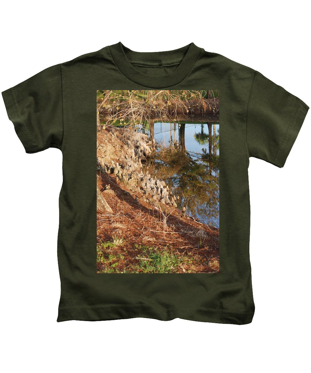 Reflections Kids T-Shirt featuring the photograph Sunset By The Water by Rob Hans