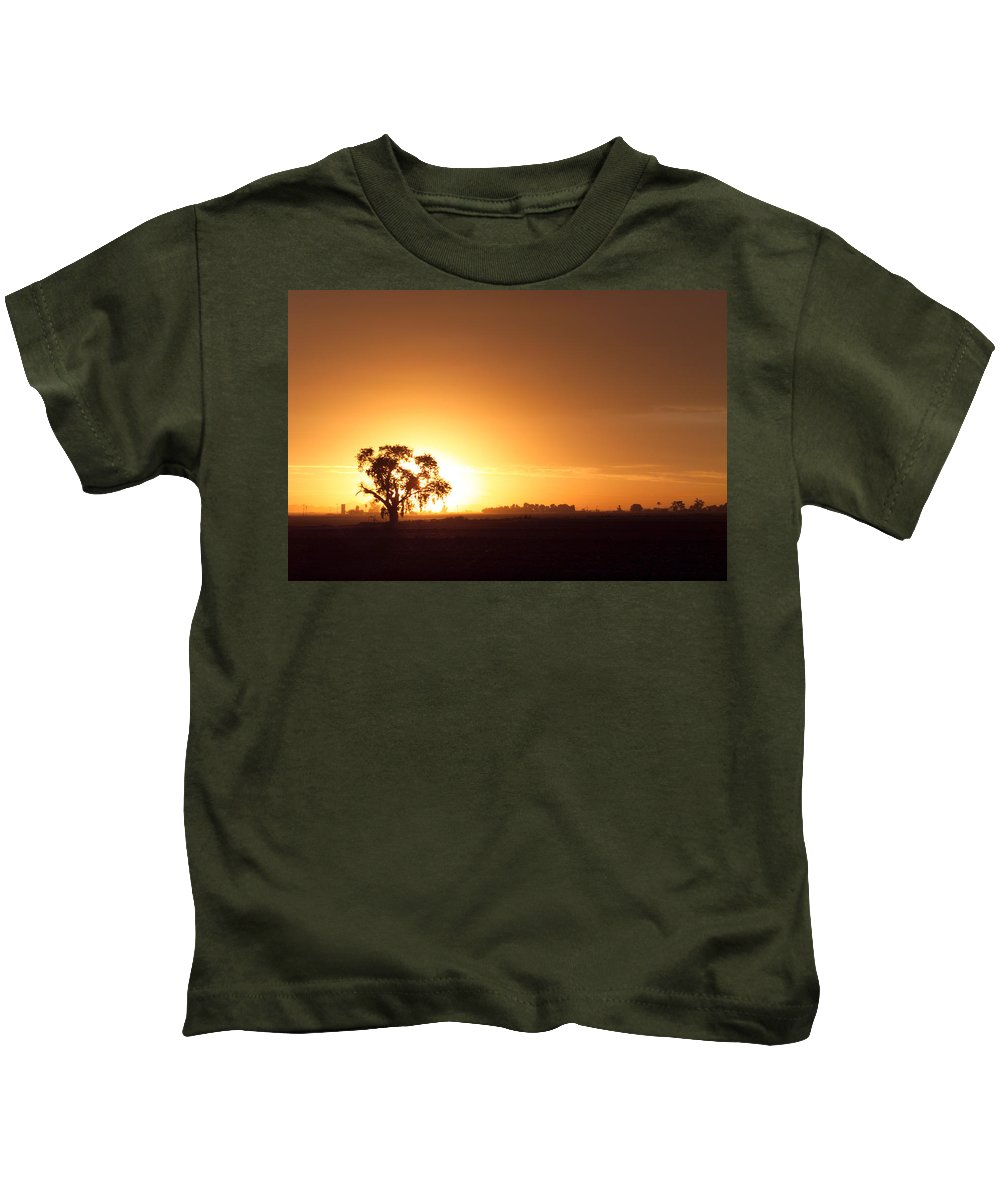 Sunset Kids T-Shirt featuring the photograph Sunset In Arizona by Scott Sawyer