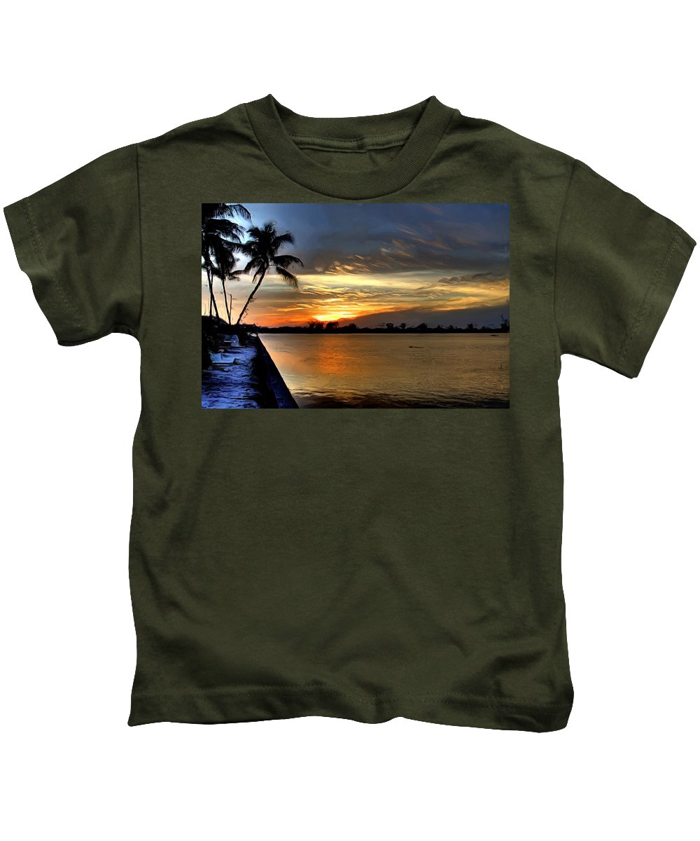 Sunset Kids T-Shirt featuring the photograph Sunset Or Sunrise by Francisco Colon