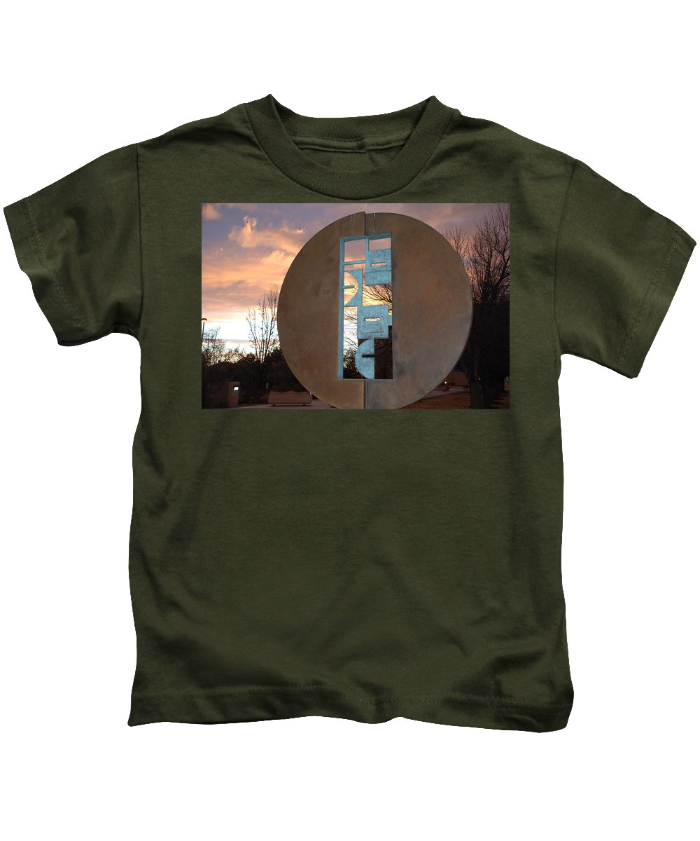 Pop Art Kids T-Shirt featuring the photograph Sunset Thru Art by Rob Hans