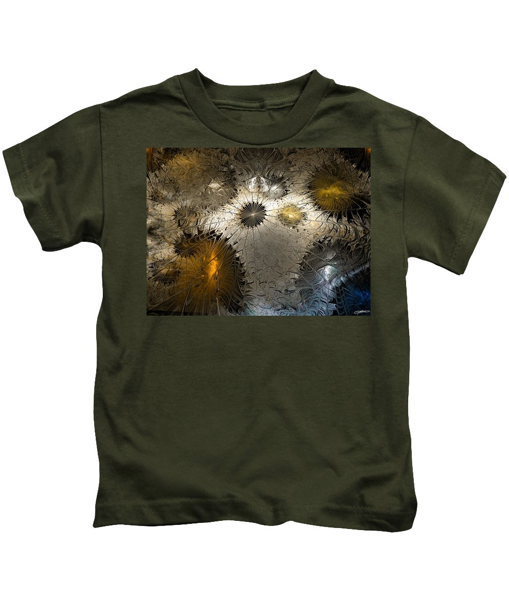 Anstract Kids T-Shirt featuring the digital art Suppression Of Independent Thought by Casey Kotas