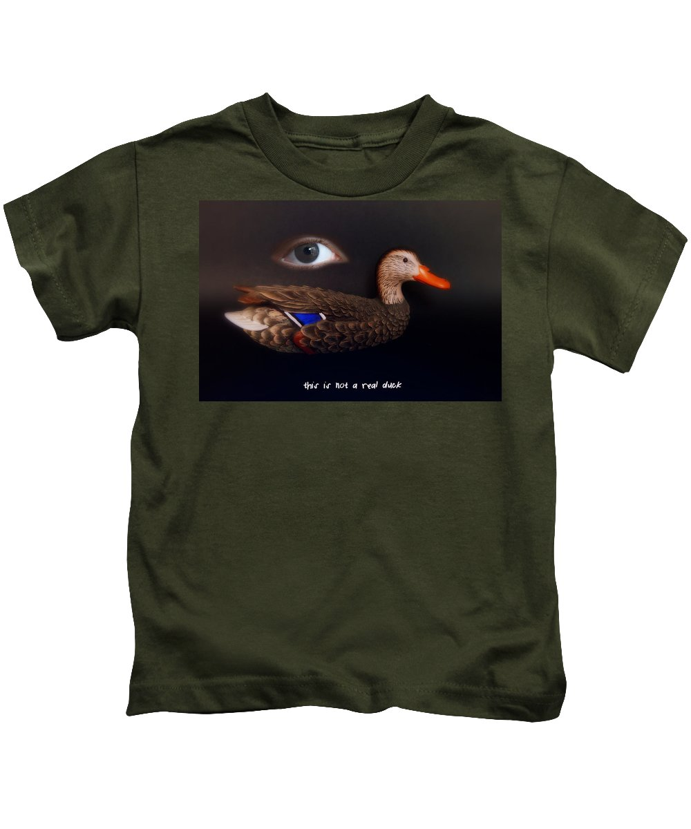 Dream Kids T-Shirt featuring the photograph Surreal Duck by Ludmila SHUMILOVA
