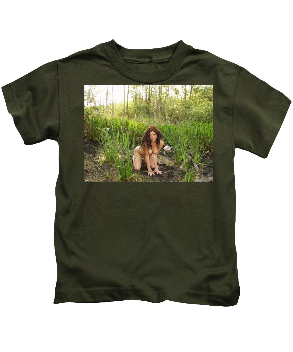 Lucky Cole Everglades Photography Kids T-Shirt featuring the photograph Swamp Beauty Four by Lucky Cole
