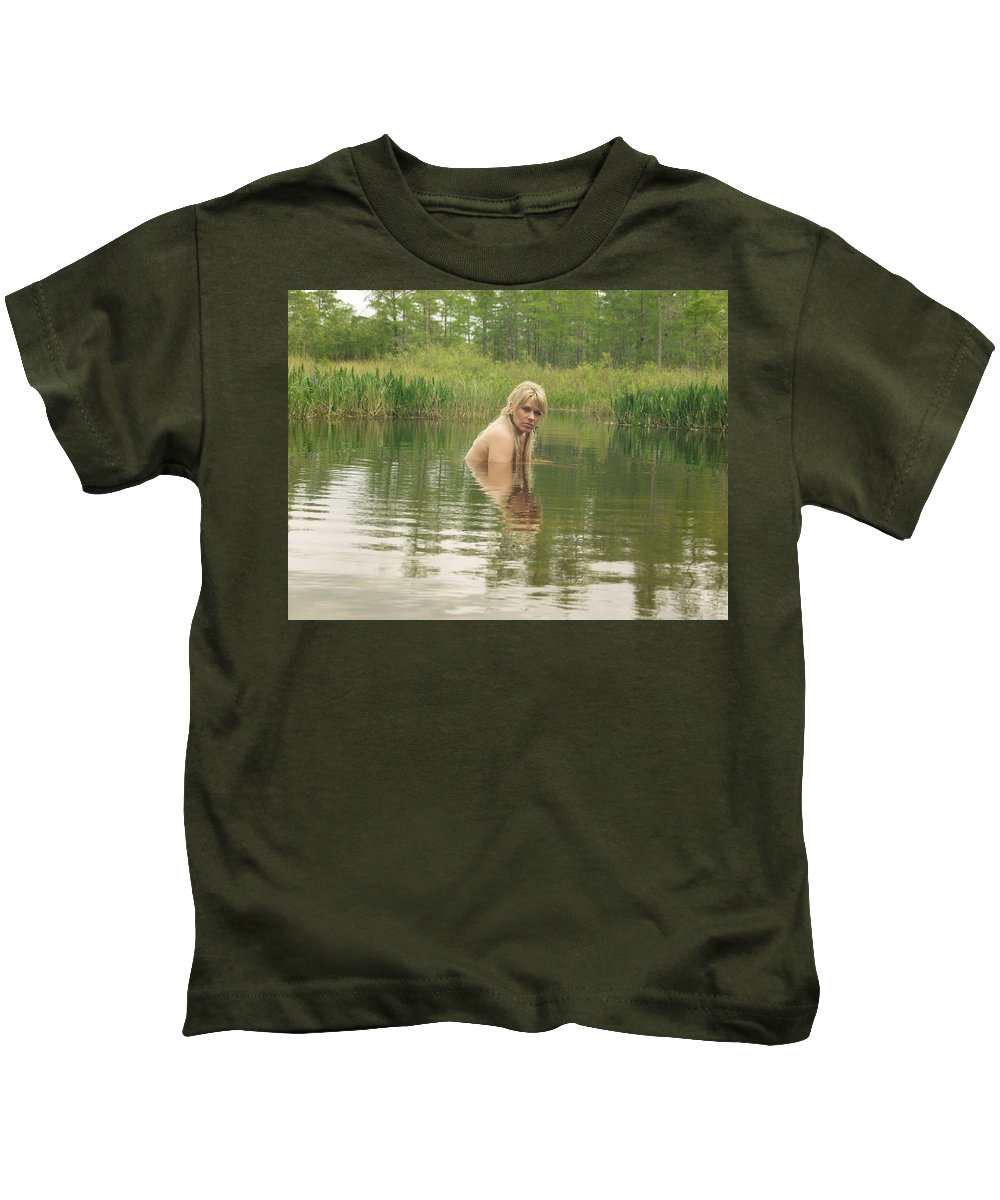 Www.naturesexoticbeauty.com Kids T-Shirt featuring the photograph Swamp Witch by Lucky Cole