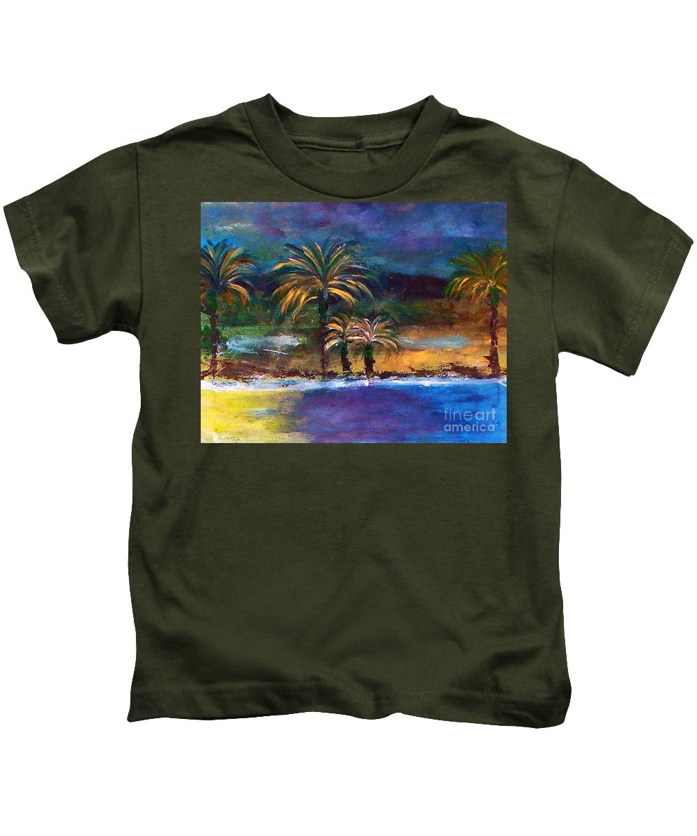 Acrylic Painting Kids T-Shirt featuring the painting Sweet Escape by Yael VanGruber