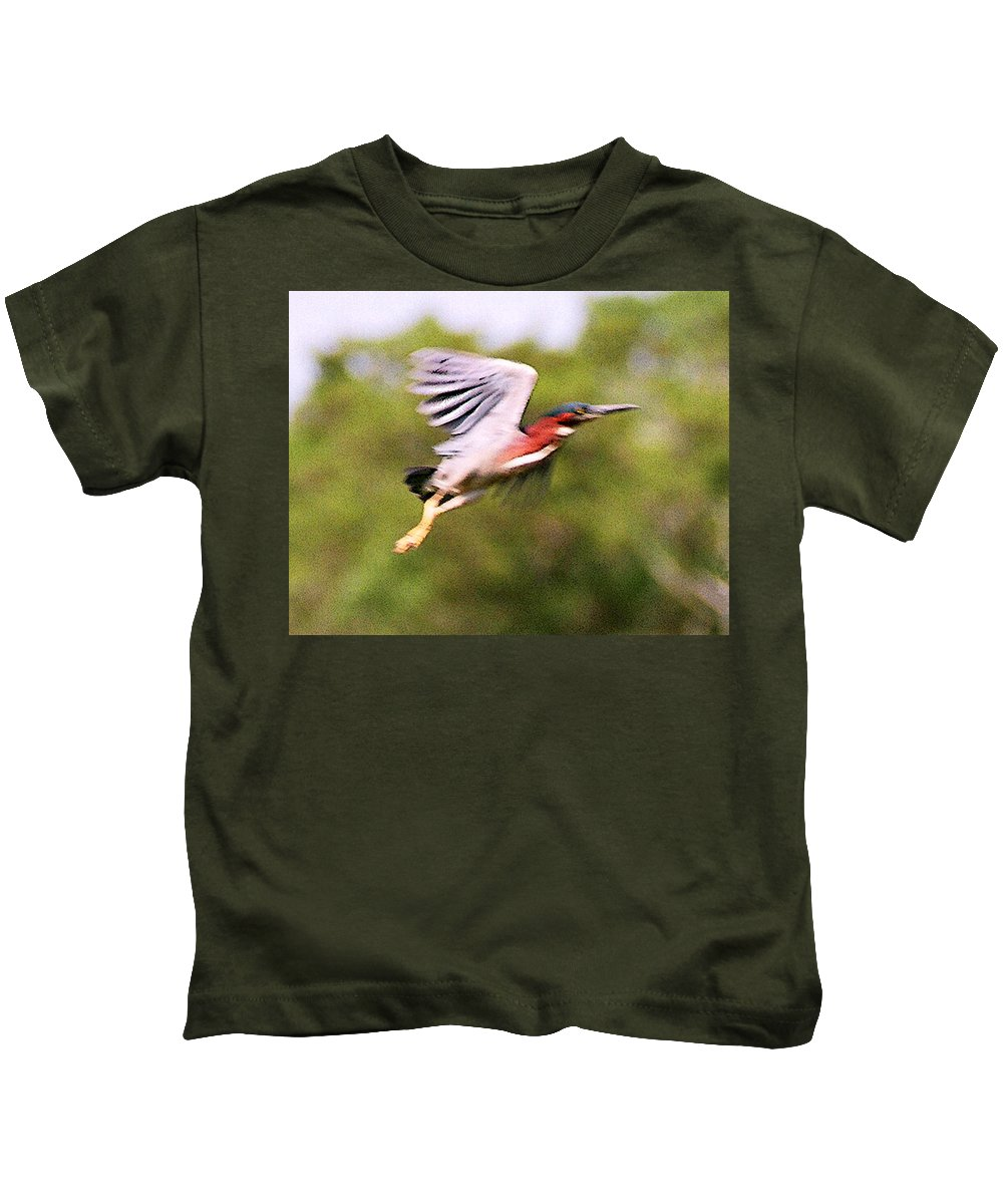 Wild Life Kids T-Shirt featuring the digital art Take Off by Steve Karol