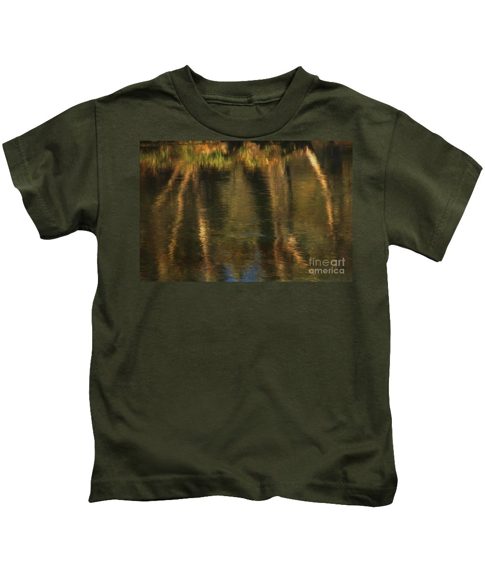 Tales Kids T-Shirt featuring the photograph Tales From The Riverbank  V by Robert Brown