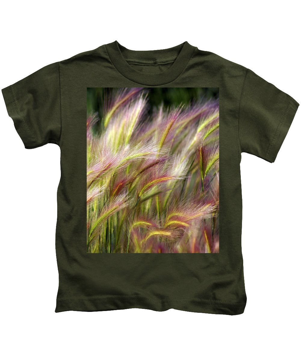 Plants Kids T-Shirt featuring the photograph Tall Grass by Marty Koch