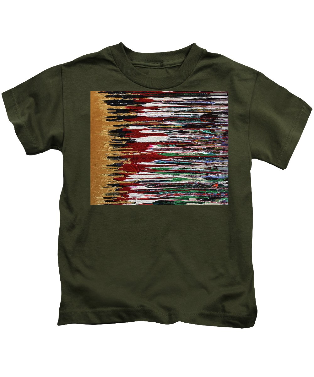Fusionart Kids T-Shirt featuring the painting Tears Of The Sun by Ralph White
