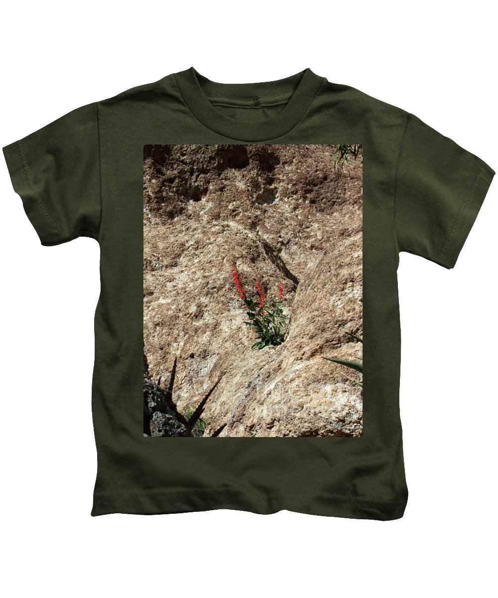 Wildflowers; Flowers Kids T-Shirt featuring the photograph Tenacity by Kathy McClure