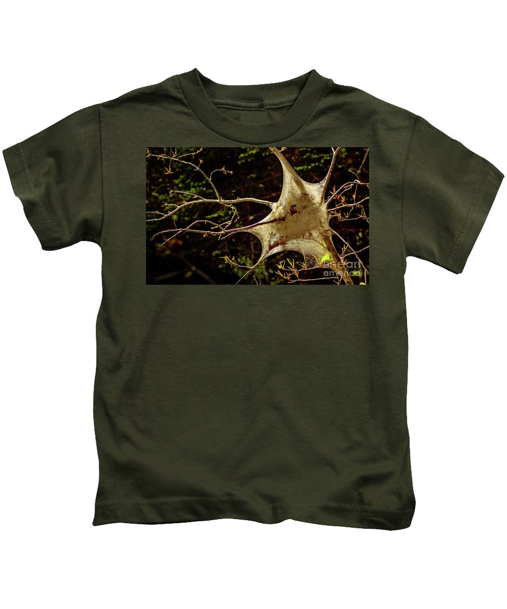 Insect Kids T-Shirt featuring the photograph Tent Caterpillars In Rural Ontario by Christina Wedow