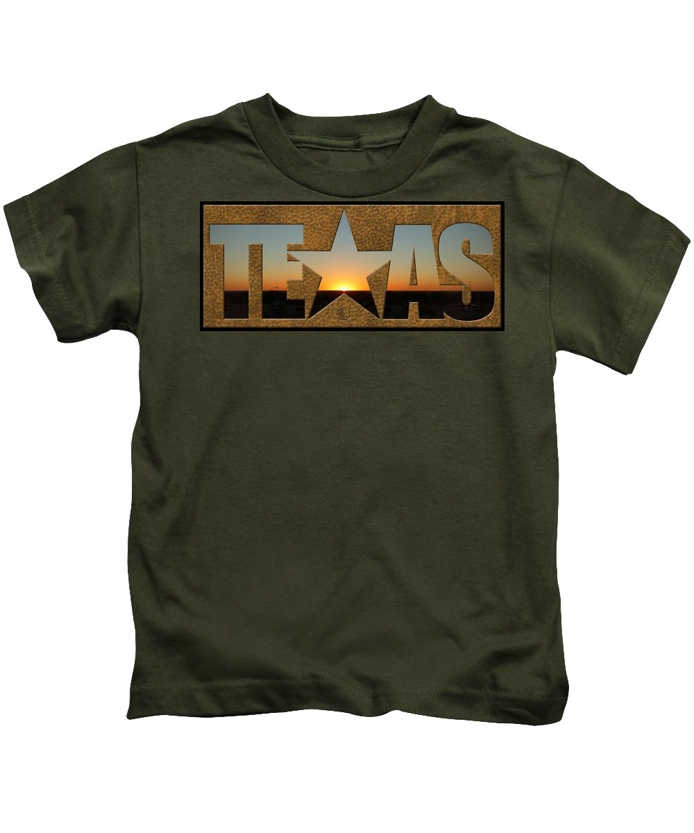 Texas Kids T-Shirt featuring the photograph Texas Sunrise by Tim Nyberg