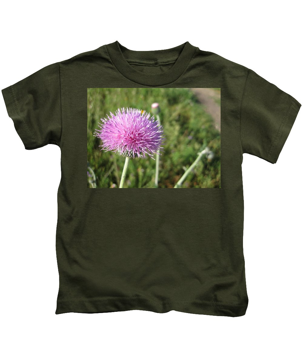 Thistle Kids T-Shirt featuring the photograph Texas Thistle by Cindy Clements