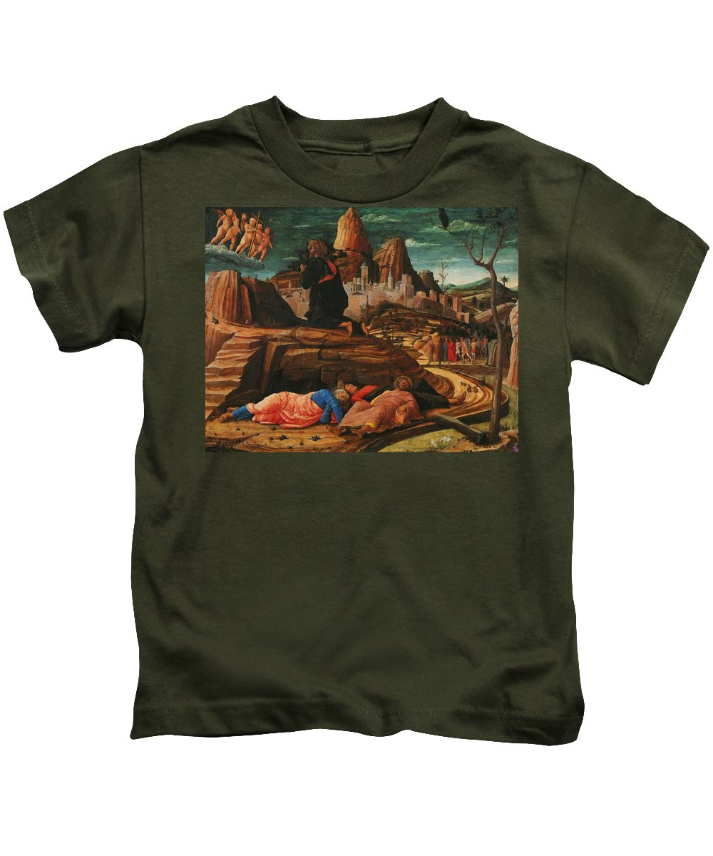 The Kids T-Shirt featuring the painting The Agony In The Garden 1455 by Mantegna Andrea
