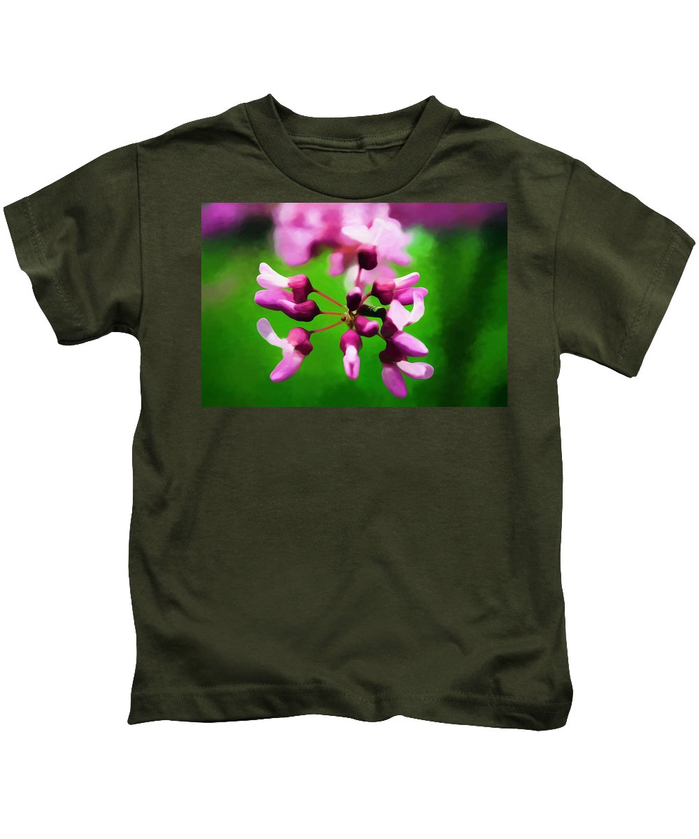 Photography Kids T-Shirt featuring the mixed media The Beauty Of A Photographer by Debra Lynch