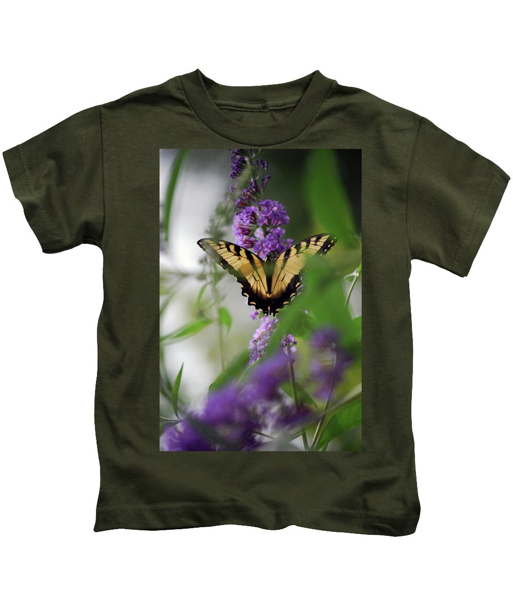 Swallowtail Kids T-Shirt featuring the photograph The Beauty Of Spring by Lori Tambakis