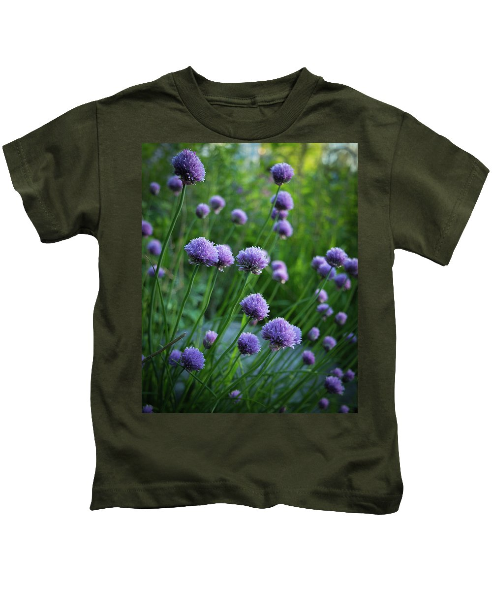 2017 Kids T-Shirt featuring the photograph The Chive Patch by Mark Salamon
