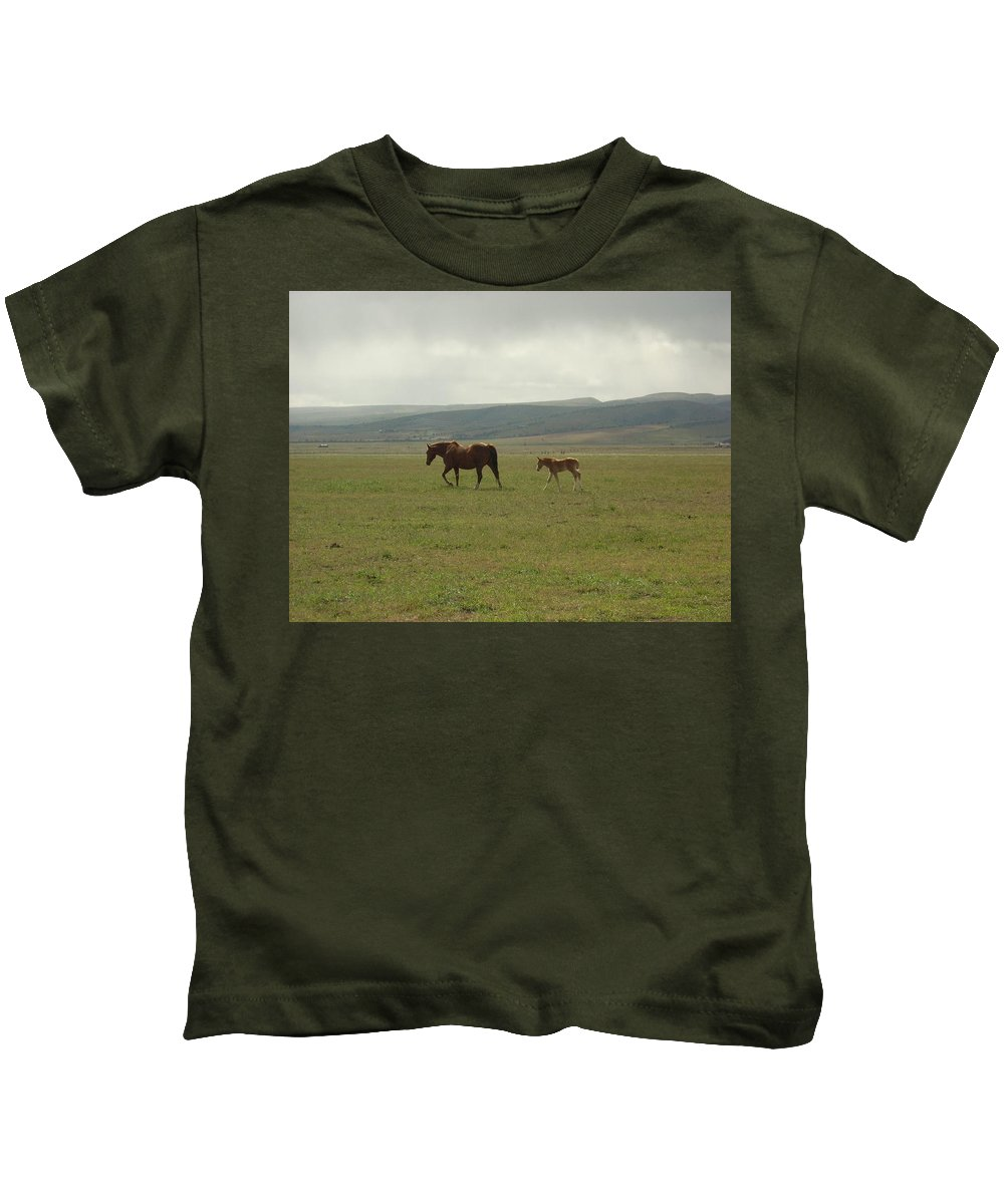 Colt Kids T-Shirt featuring the photograph The Colt by Sara Stevenson