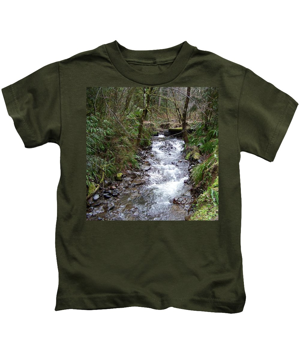 Digital Photography Kids T-Shirt featuring the photograph The Creek by Laurie Kidd