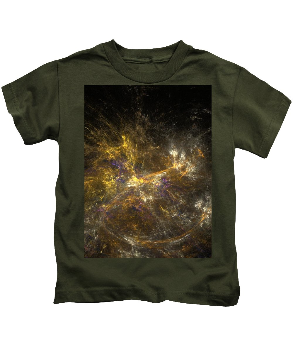 Abstract Digital Photo Kids T-Shirt featuring the digital art The Dance 3 by David Lane
