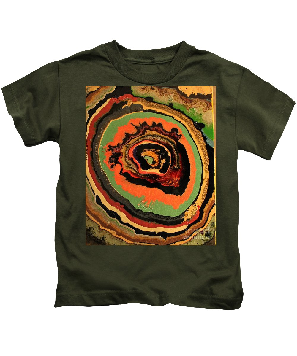 Abstract Kids T-Shirt featuring the painting The Dragons Eye by Douglas W Warawa