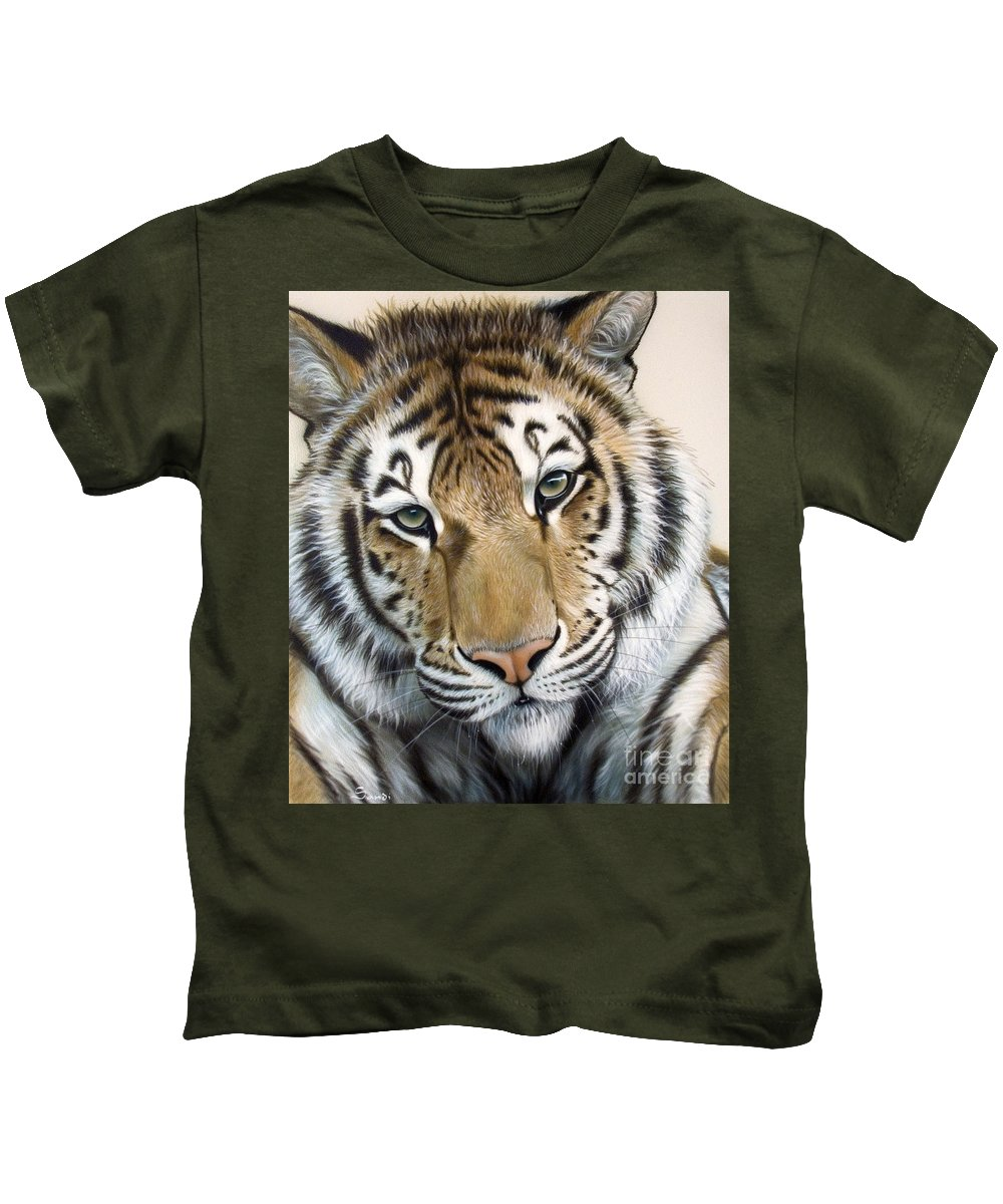 Acrylic Kids T-Shirt featuring the painting The Embrace by Sandi Baker