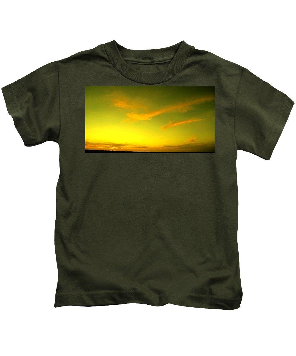 Sunset Kids T-Shirt featuring the photograph The Final Light Is Gold by Ian MacDonald