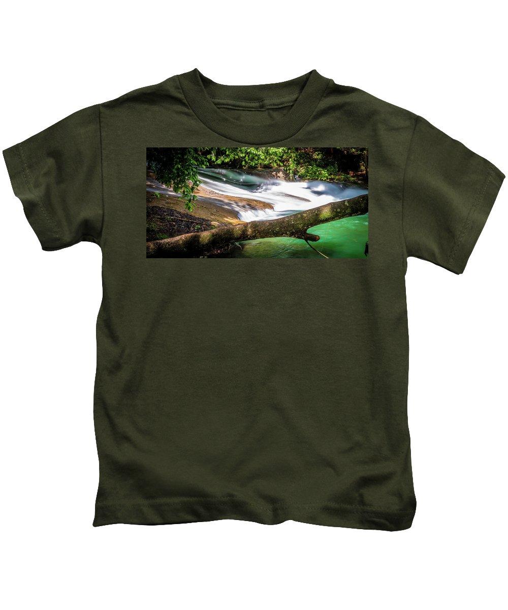 River Kids T-Shirt featuring the photograph The Flow by Vincent Asbjornsen