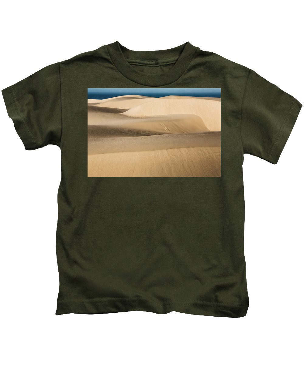Sand Dunes Kids T-Shirt featuring the photograph The Flowing Earth by James ODonnell
