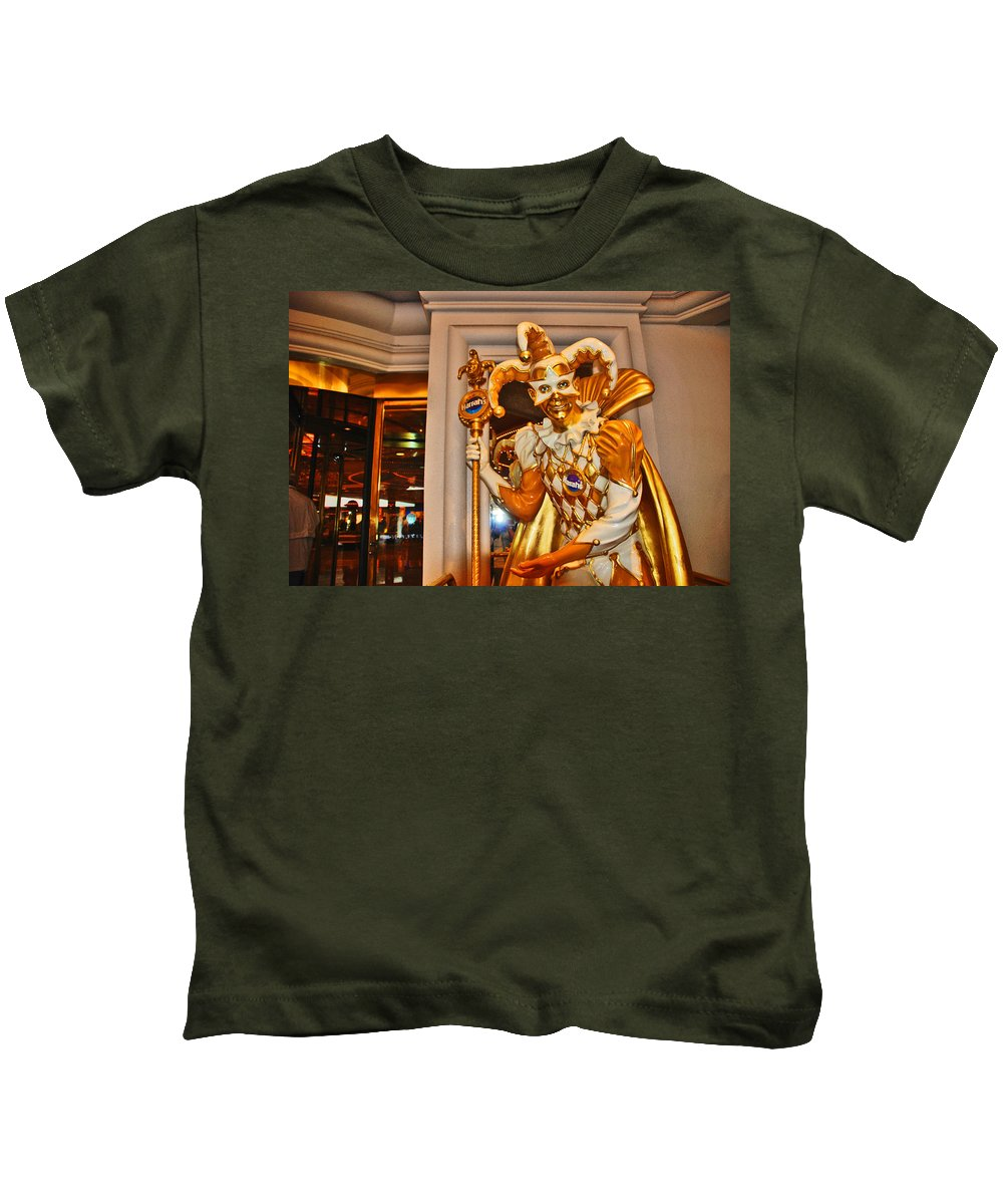 Photography Kids T-Shirt featuring the photograph The Fool by Susanne Van Hulst