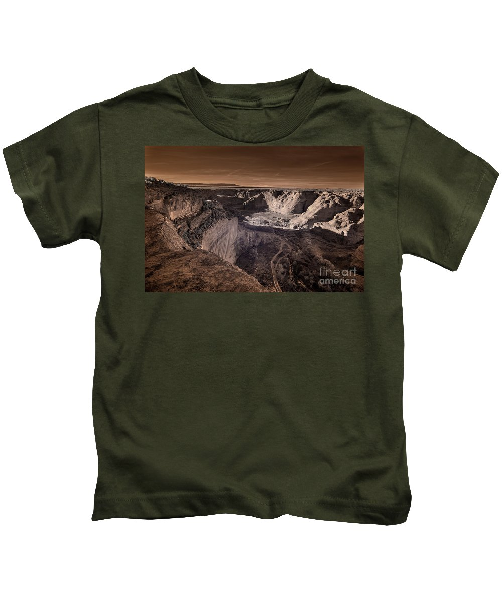The Four Directions Kids T-Shirt featuring the digital art The Four Directions by William Fields