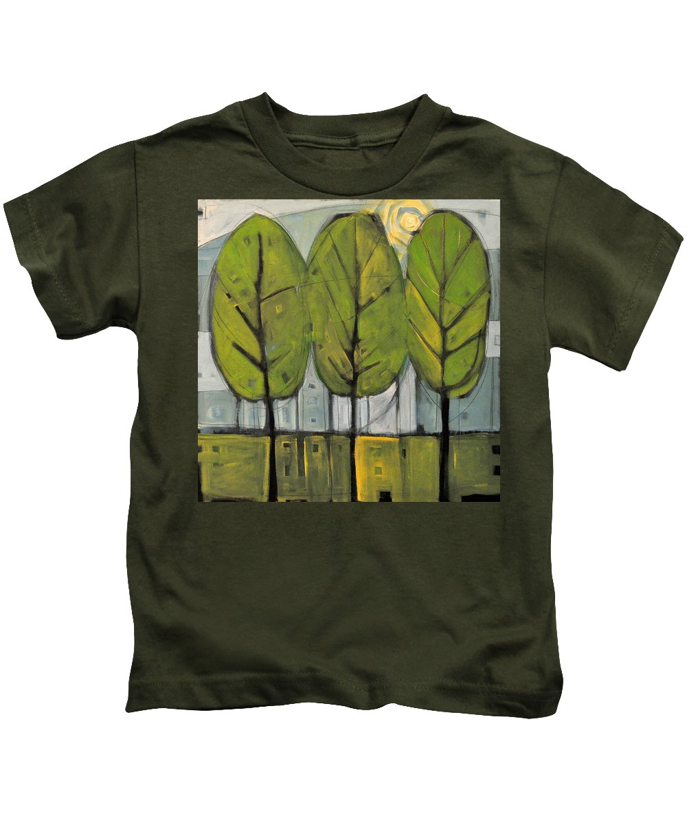 Trees Kids T-Shirt featuring the painting The Four Seasons - Summer by Tim Nyberg
