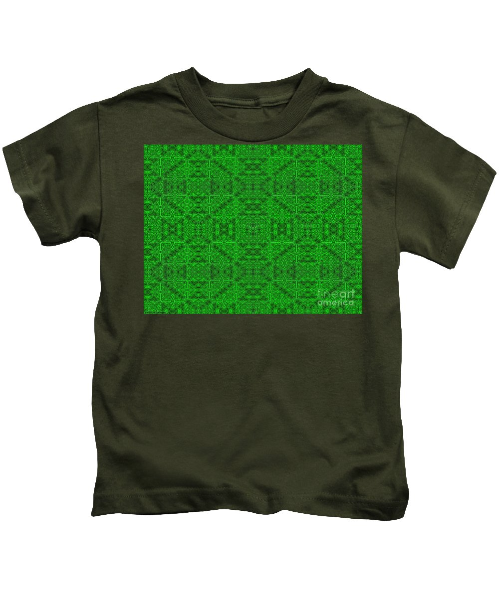 Green Kids T-Shirt featuring the digital art The Golf Course by Debra Lynch