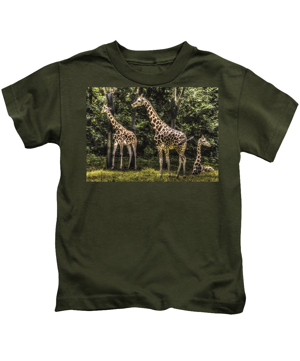 New York Kids T-Shirt featuring the photograph The Higher Ups by Jeff Watts