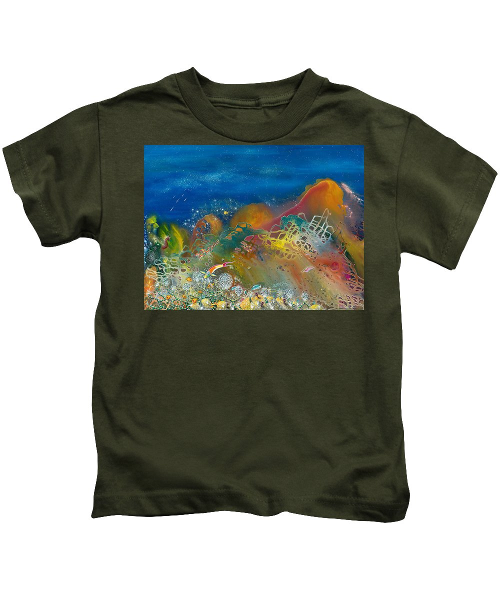Beach House Kids T-Shirt featuring the painting The Kingdom Of Namena by Lee Pantas
