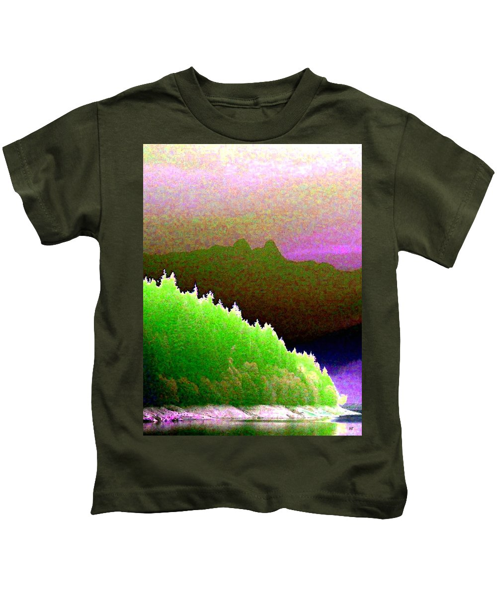 The Lions Kids T-Shirt featuring the digital art The Lions by Will Borden