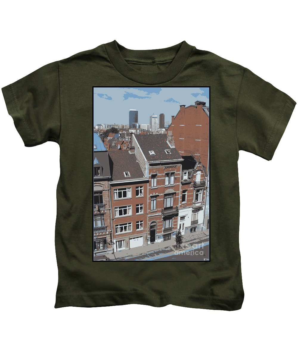 Brussels Kids T-Shirt featuring the photograph The Many Layers Of Brussels by Carol Groenen