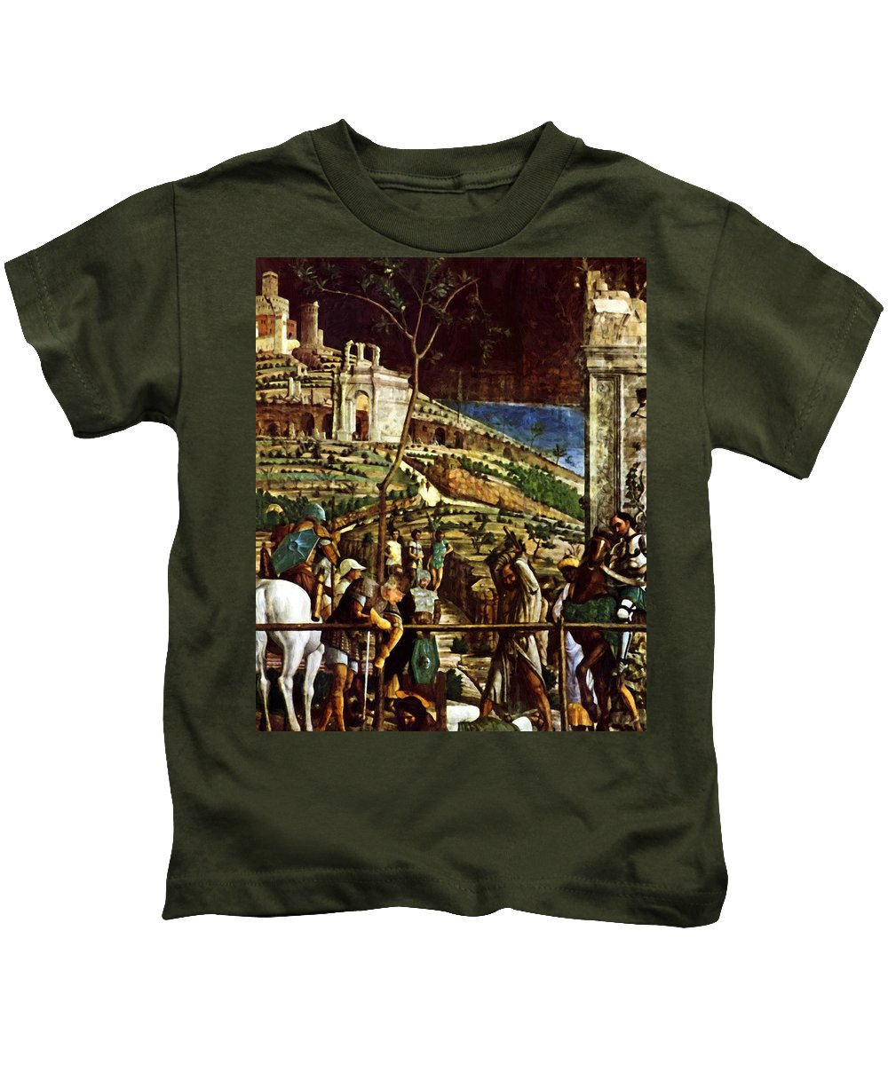 The Kids T-Shirt featuring the painting The Martyrdom Of St Jacques by Mantegna Andrea