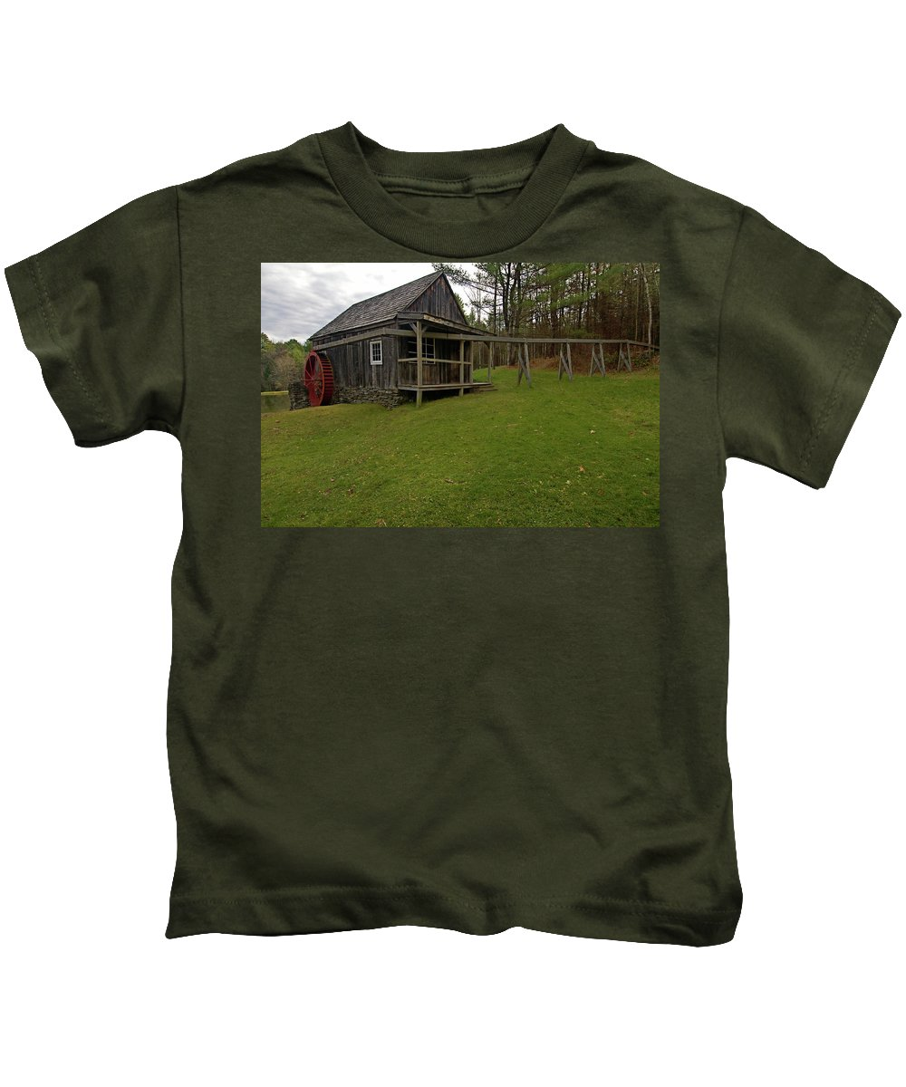 vermont Images Kids T-Shirt featuring the photograph The Mill by Paul Mangold