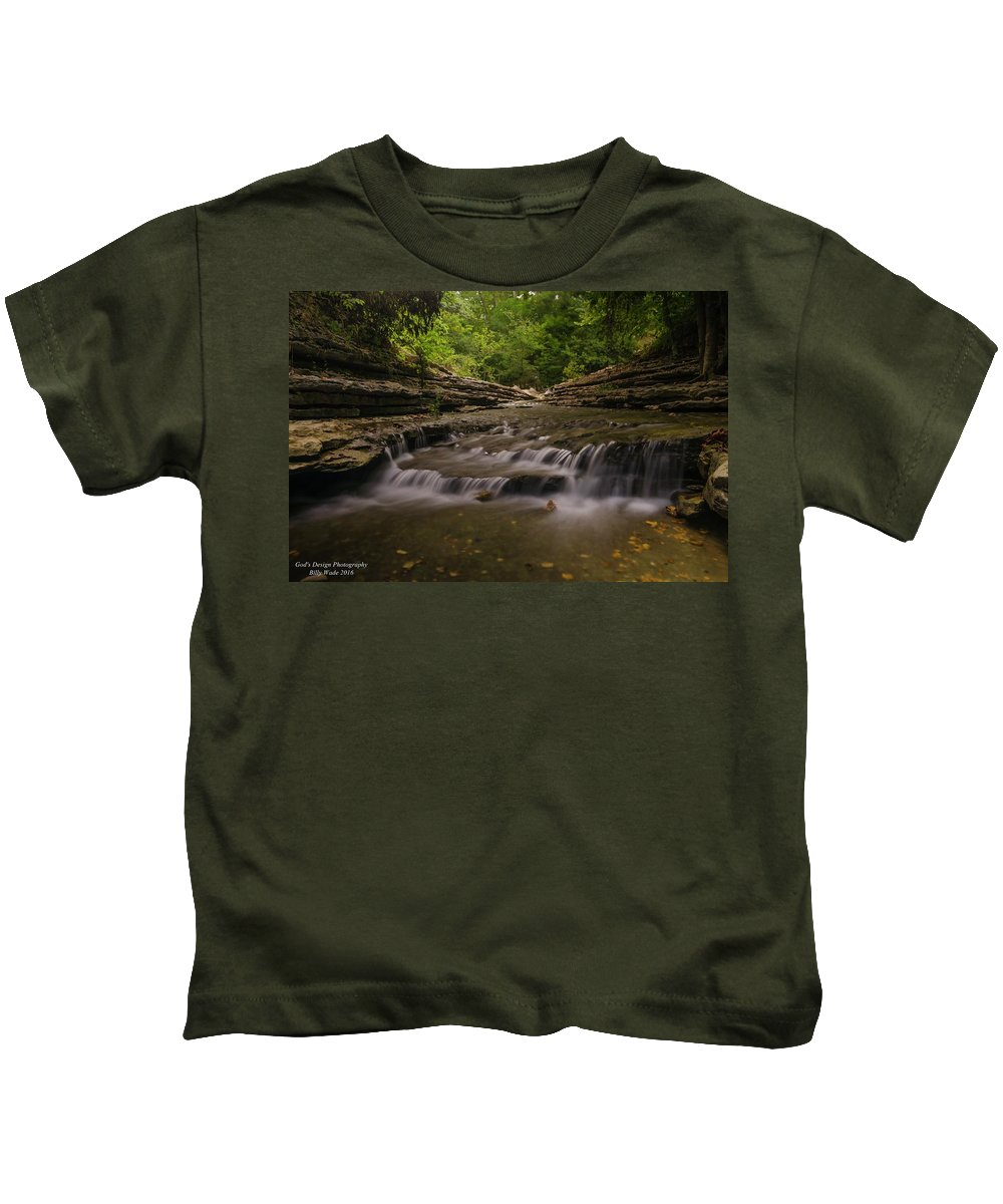 Landscape Kids T-Shirt featuring the photograph The Mini Falls by Billy Wade