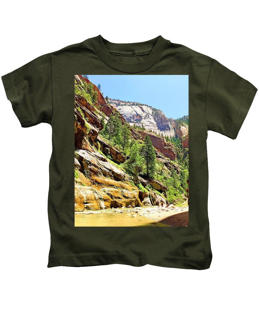 The Narrows Kids T-Shirt featuring the photograph The Narrows Study 1 by Robert Meyers-Lussier