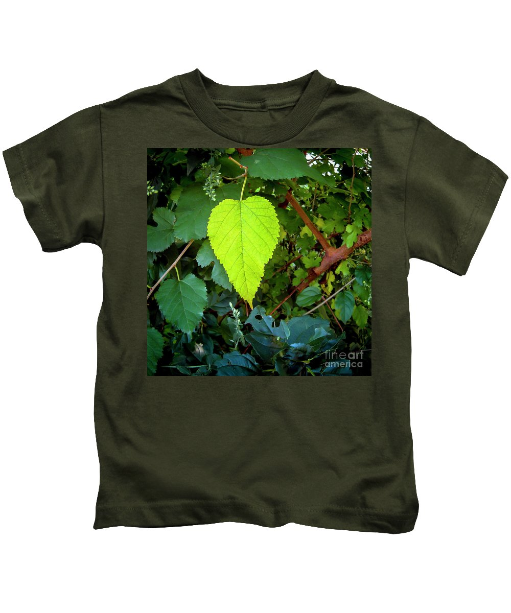 Ginger Woods Kids T-Shirt featuring the photograph The One by David Foote