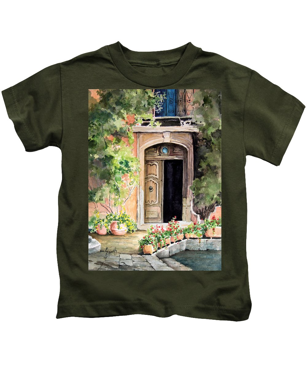 Door Kids T-Shirt featuring the painting The Open Door by Sam Sidders
