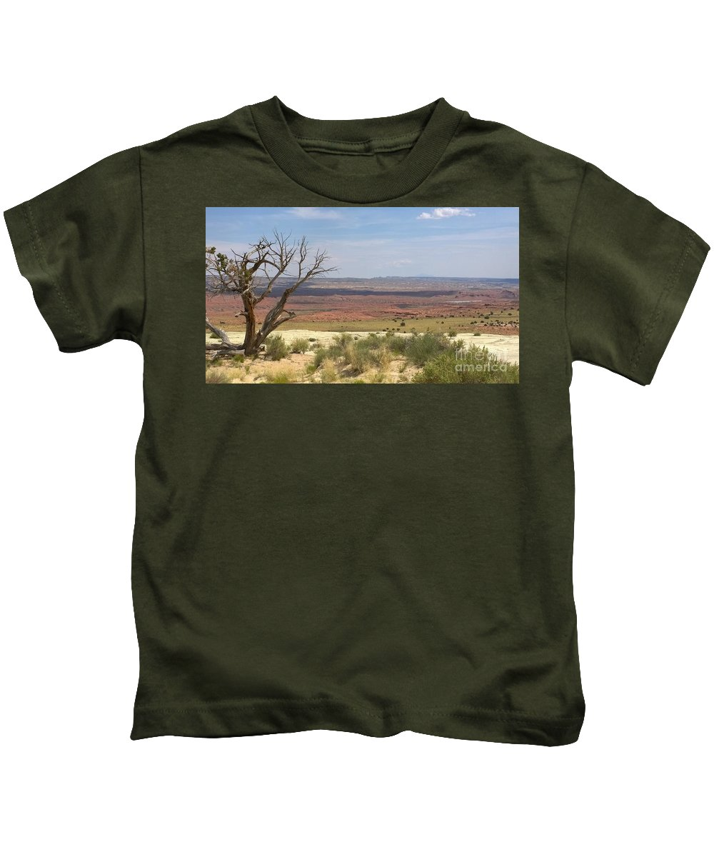 Pink Kids T-Shirt featuring the photograph The Painted Desert Of Utah 1 by Jennifer E Doll