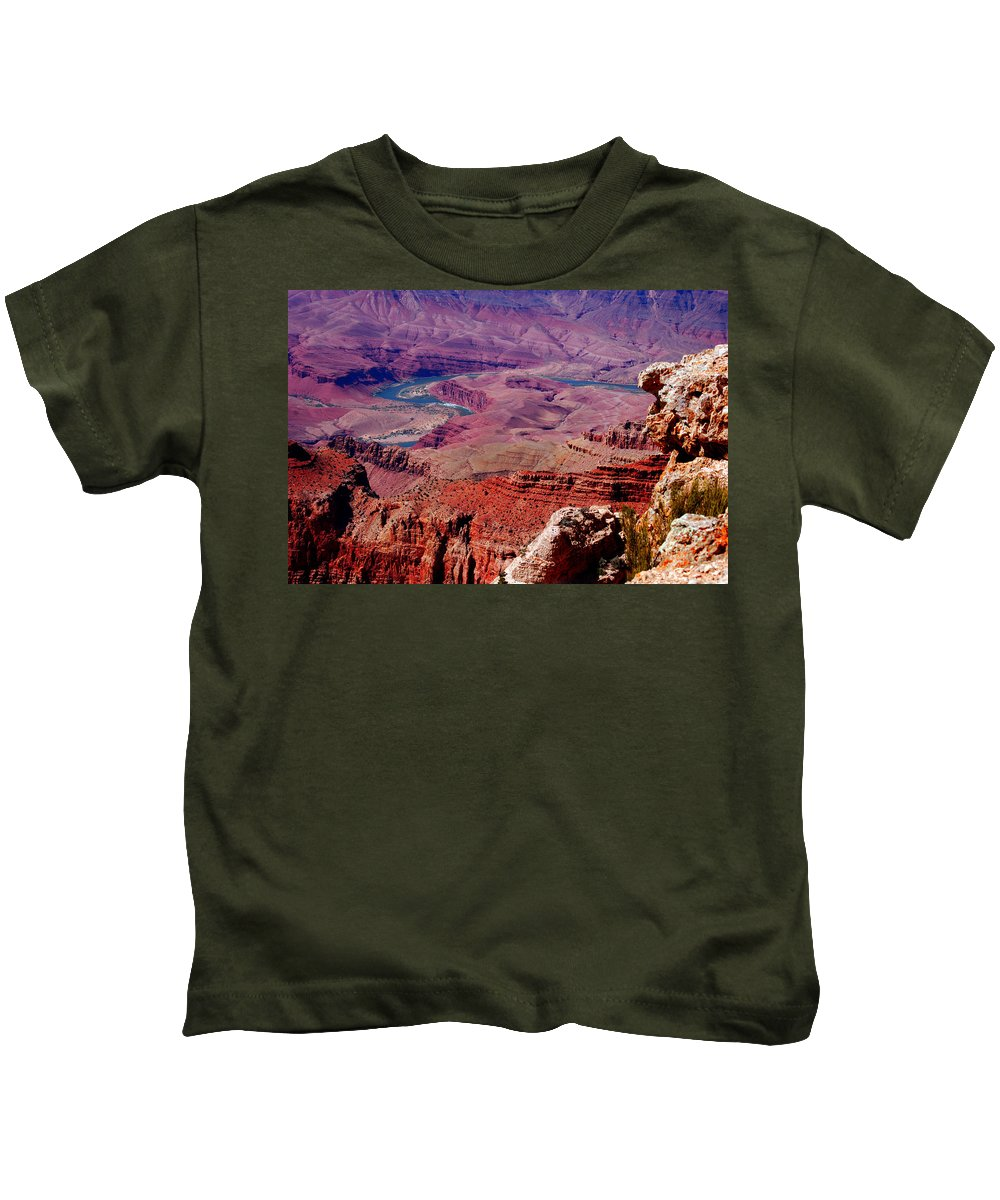Grand Canyon Kids T-Shirt featuring the photograph The Path Of The Colorado River by Susanne Van Hulst