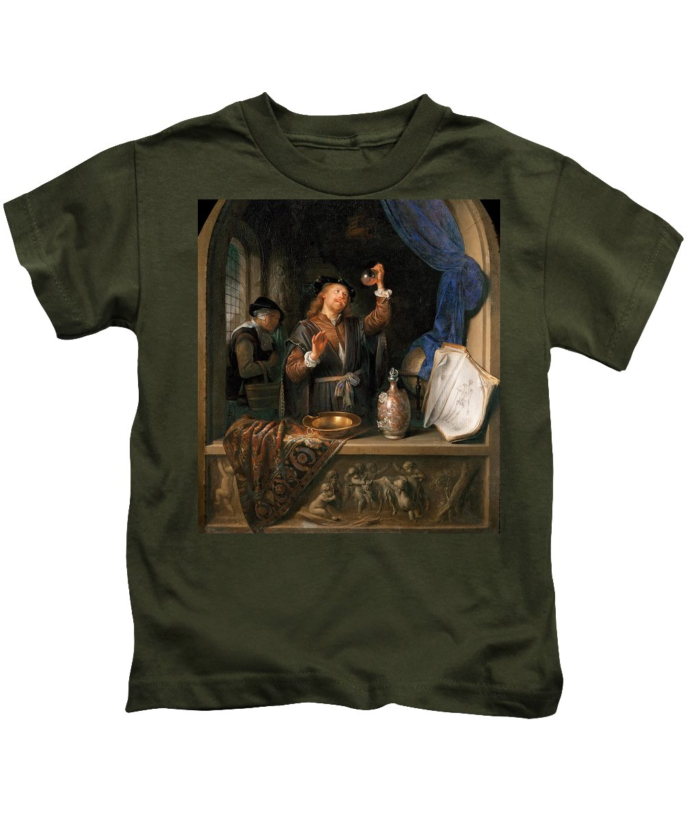 Gerrit Dou Kids T-Shirt featuring the painting The Physician by Gerrit Dou