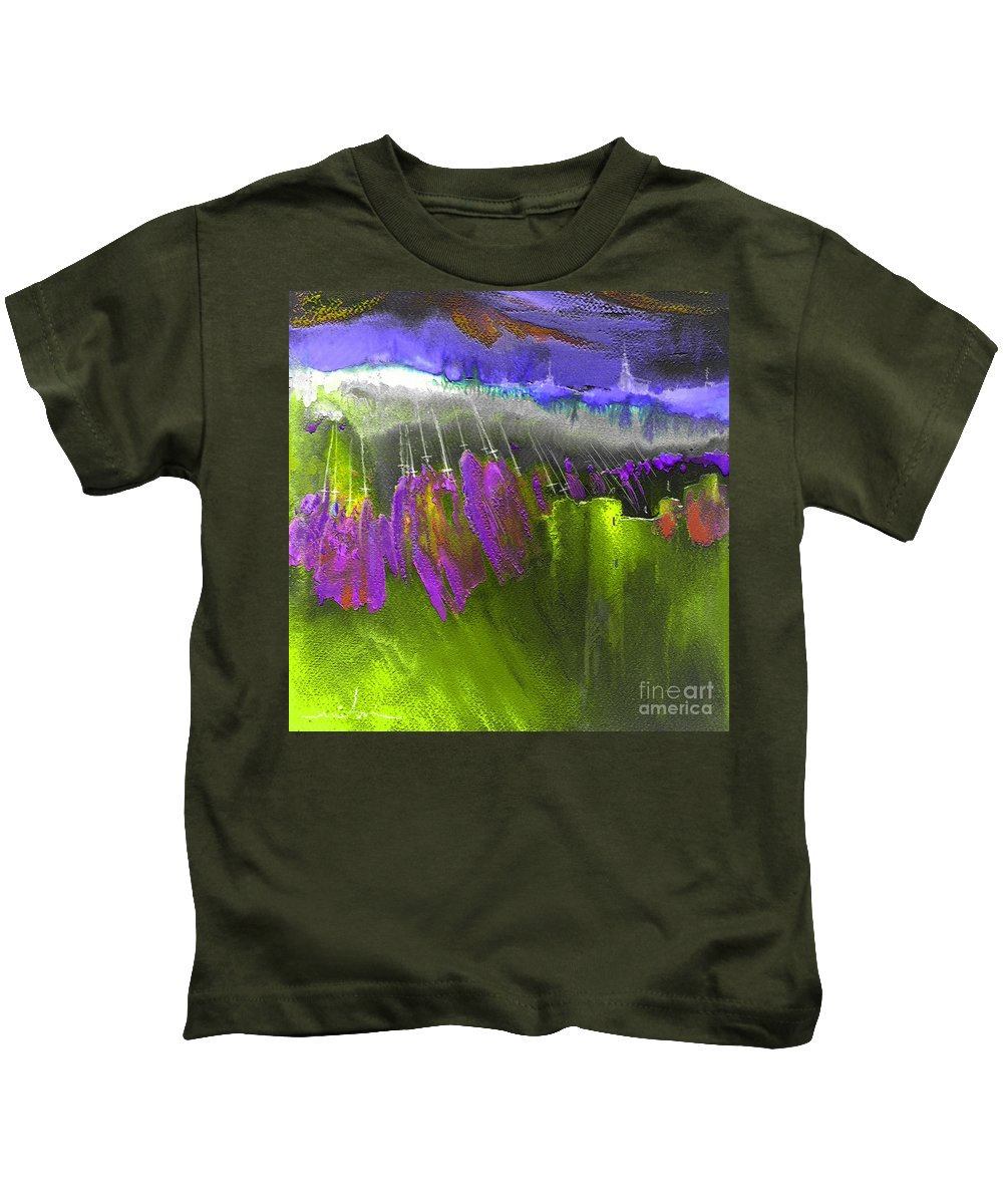 Dream Painting Kids T-Shirt featuring the painting The Pink Army Taking Cordoba by Miki De Goodaboom