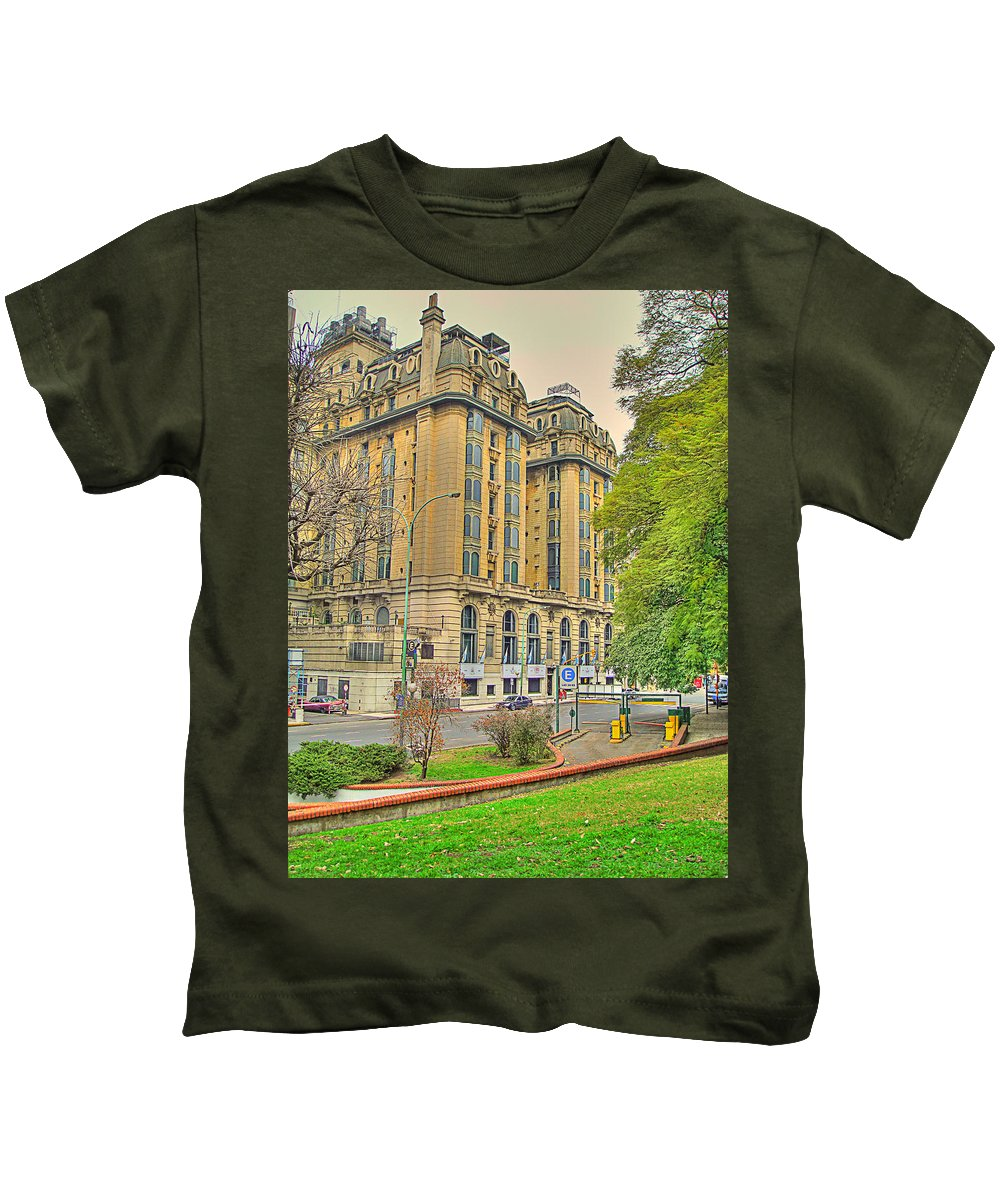Hotel Kids T-Shirt featuring the photograph The Plaza by Francisco Colon